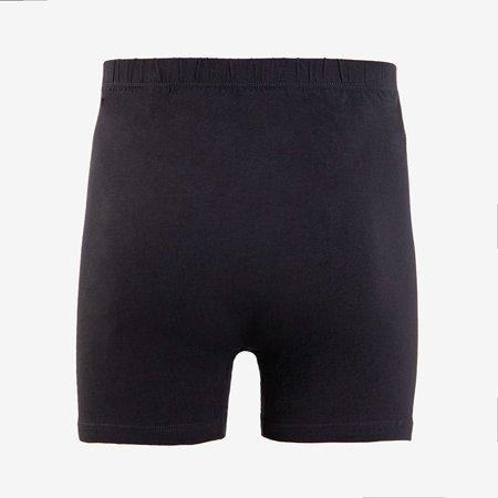 Men's black cotton boxer shorts PLUS SIZE- Underwear