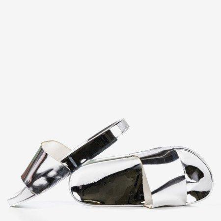 Mertisa silver metallic flip-flops - Footwear 1