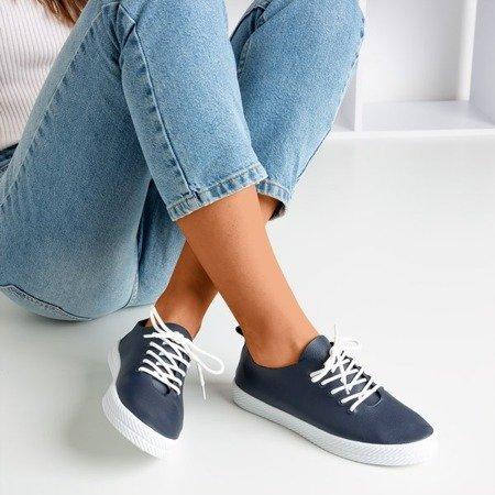 Navy blue lace-up sneakers Ewilia - Footwear