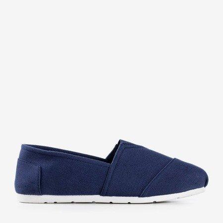 Navy blue women's slip-on sneakers Slavarina - Footwear