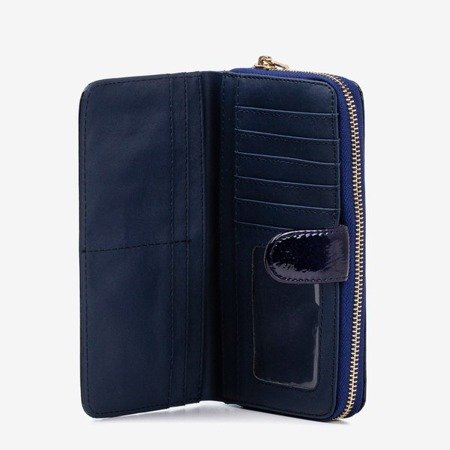 Navy lacquered women's wallet - Wallet