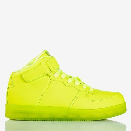 Neon green high-top children's sports shoes from Cooper - Shoes