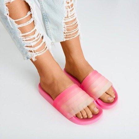 Neon pink Nalina rubber slippers - Footwear