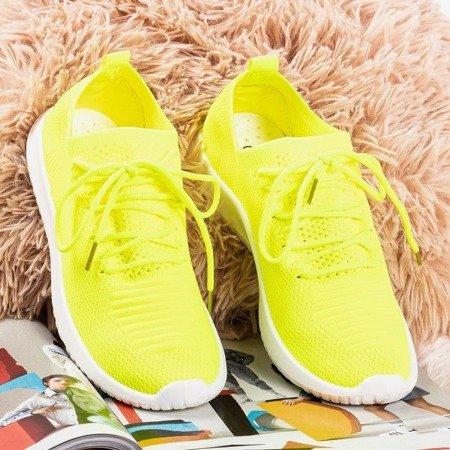 Neon yellow women's sports shoes Noven - Footwear