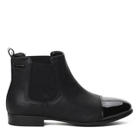 OUTLET Black boots made of ecological leather Wessonime - Footwear