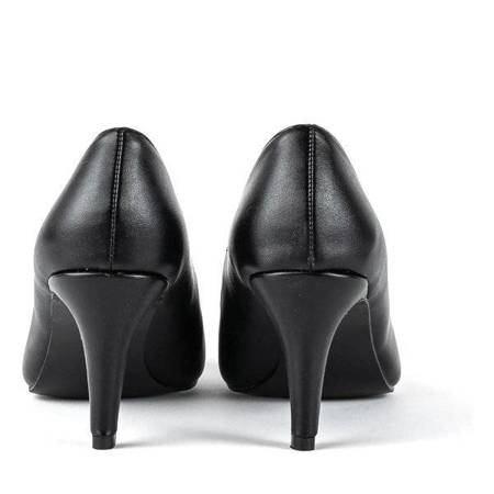 OUTLET Black pumps on a stable Carissa stiletto - Footwear