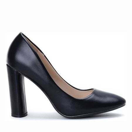 OUTLET Black pumps on the Maliyah post - Footwear