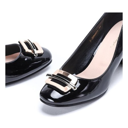 OUTLET Black pumps on the My Lucky Day post - Footwear