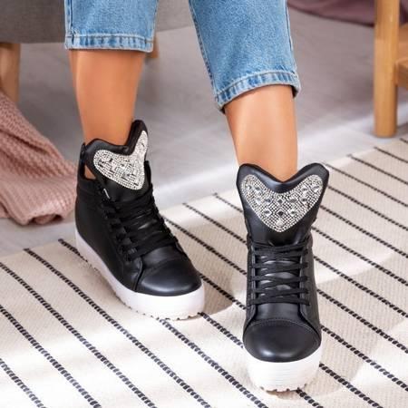OUTLET Black sneakers on the Esther platform - Footwear