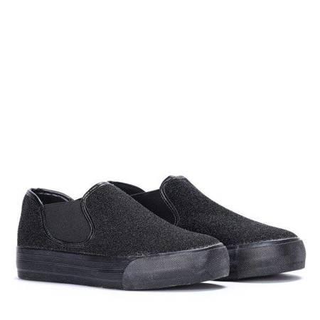OUTLET Black sneakers slip on Jorginnien - Footwear