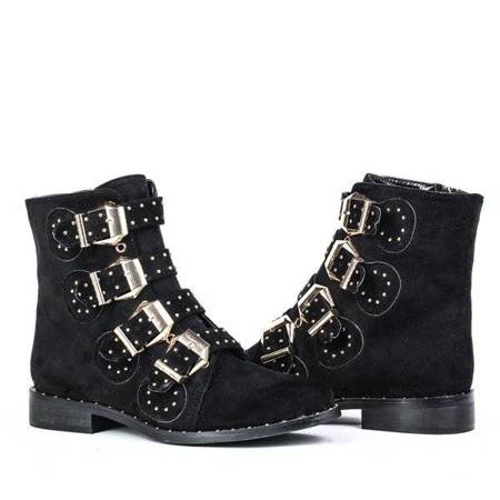 OUTLET Black, suede boots with Adelmira studs - Footwear