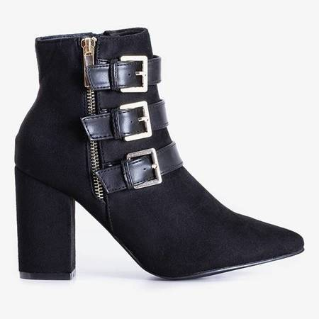 OUTLET Black women's ankle boots with Lardiano buckles - Footwear