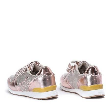 OUTLET Children's gold sports shoes Noelia - Footwear