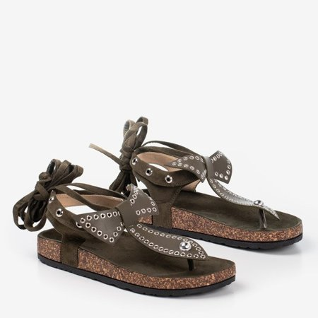 OUTLET Green flip-flops Celione - Footwear