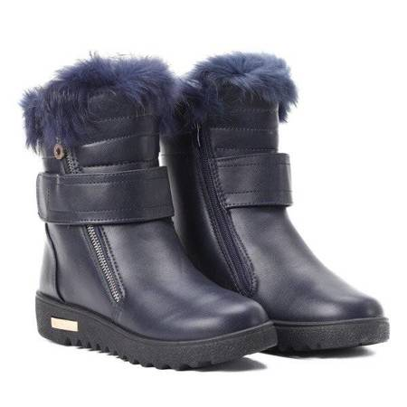 OUTLET Navy blue, insulated snow boots from Monti - Footwear