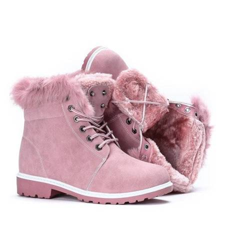 OUTLET Pink warm hiking boots Catalina - Footwear