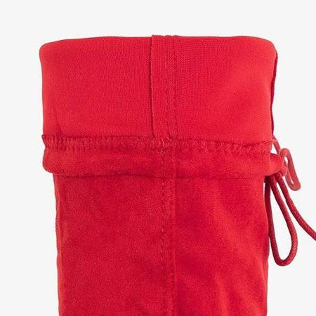 OUTLET Red high-heeled knee boots by Fagida - Shoes
