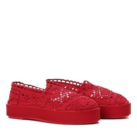 OUTLET Red lace slip on Bari sneakers - Footwear
