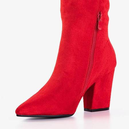 OUTLET Red women's boots on the Vacar post - Footwear