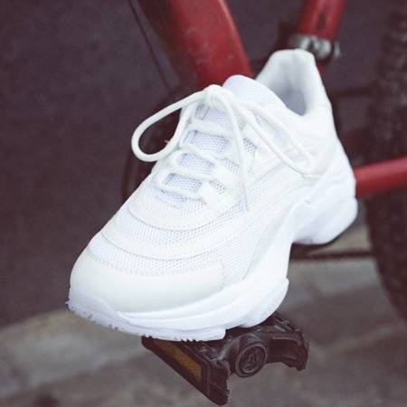 OUTLET White Alabama thick-soled sports shoes - Footwear