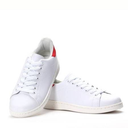 OUTLET White and red sneakers from Giselle - Footwear