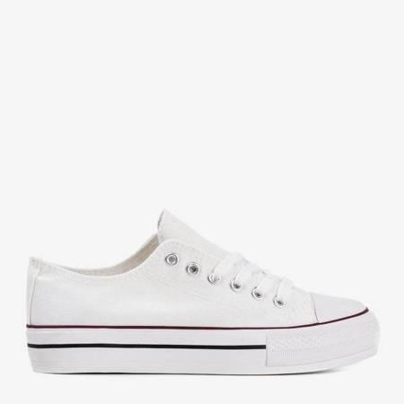 OUTLET White women's Habena sneakers - Footwear