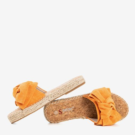 Orange flip-flops with a bow Playa - Footwear 1