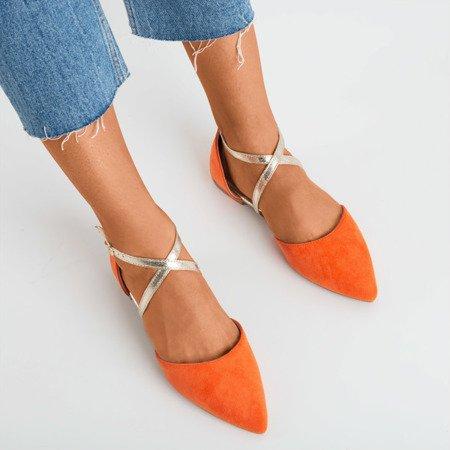 Orange women's flat ballerinas Vosia - Footwear