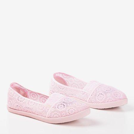 Pink ballerinas made of Noremies fabric - Footwear