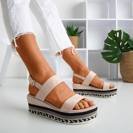 Powdered sandals on Wedge Colissa - Footwear 1