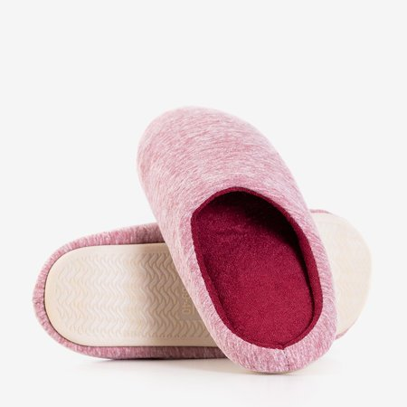 Red and pink Minewra women's slippers - Footwear
