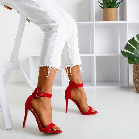 Red sandals on a higher heel Suella - Footwear 1