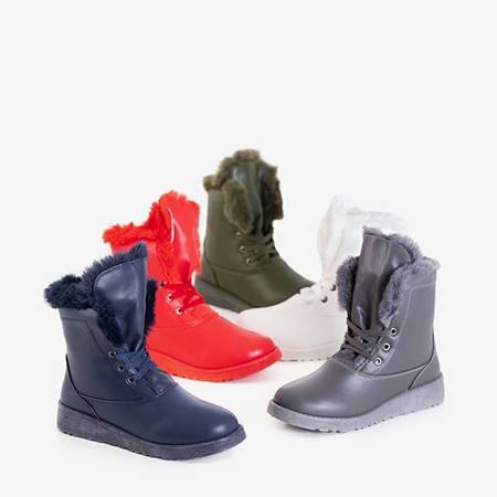 Red snow boots with fur Cool Breeze - Footwear