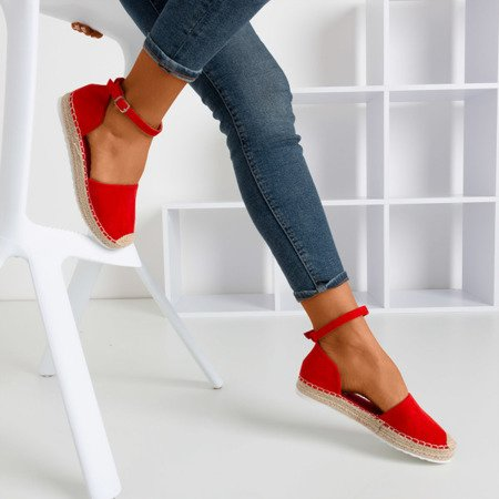 Red women's espadrilles on the Citiva platform - Footwear 1
