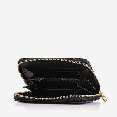 Small black women's wallet a'la snake skin - Wallet