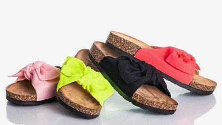 Sunshine pink slippers with bow - Footwear