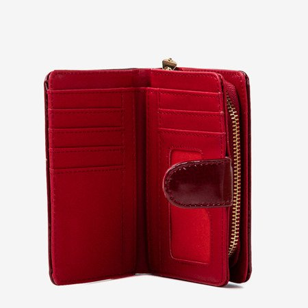 Varnished small women's wallet in burgundy - Wallet 1