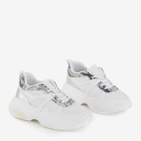Waks white women's sports shoes - Footwear