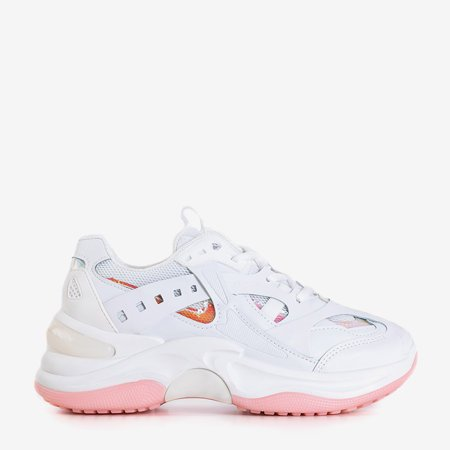 White and pink trainers with holographic inserts Etana - Footwear