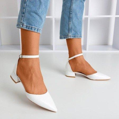 White ballerinas with animal embossing Tesena - Footwear 1
