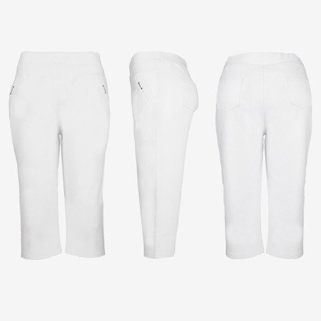 White short leggings with a welt - Pants 1