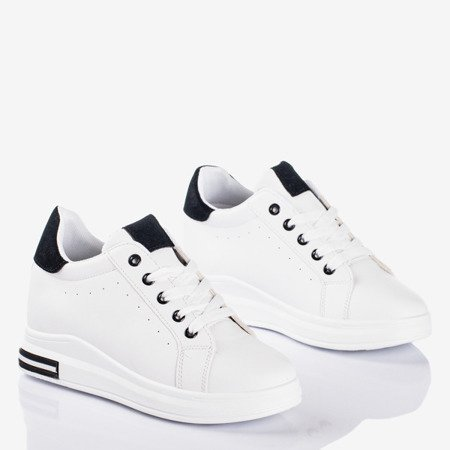 White sports shoes on an indoor wedge with black Sliomena inserts - Footwear 1