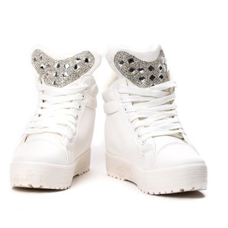 White wedge sneakers - Footwear