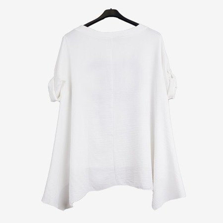 White women's tunic with inscriptions - Blouses 1