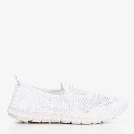 White women's slip-on sport shoes - on Boreia - Footwear 1