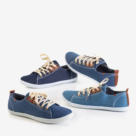 Women's Dark Blue Lace-Up Sindri Sneakers - Shoes