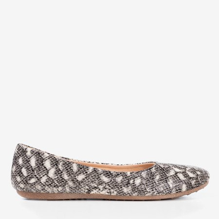 Women's ballerinas a'la snake skin Rozita - Footwear