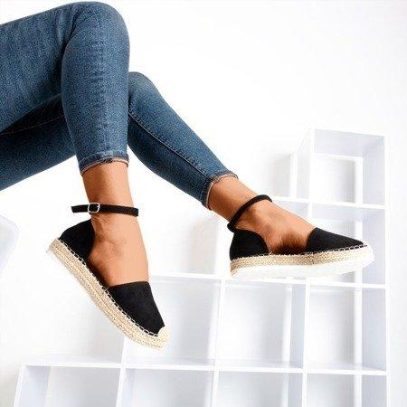 Women's black espadrilles on the Citiva platform - Footwear