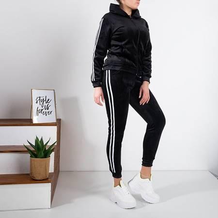 Women's black insulated tracksuit set - Clothing