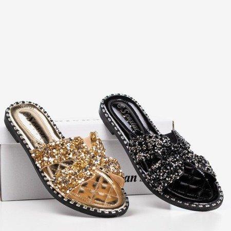 Women's black sequin slippers Hemessa - Footwear